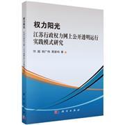 权力阳光-江苏行政权力网上公开透明运行实践模式研究